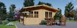 Gartenhaus LILLE (34 mm) 5x5 m, 25 m² visualization 2