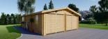 Doppelgarage aus Holz (44 mm) 6x9 m, 54 m² visualization 3