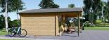 Gartenhaus CAMILA (44 mm) 6x6 m, 36 m² visualization 6