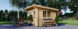 Gartenhaus DREUX (44 mm) 4x3 m, 12 m² mit Flachdach  visualization 2