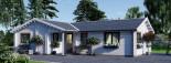 Isoliertes Blockbohlenhaus ADELE 68 m² visualization 6