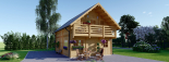 Blockbohlenhaus LANGON (66 mm) 108 m² mit extra Schneelast visualization 2