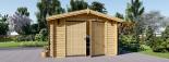 Holzgarage (44 mm) 4x6 m, 24 m² visualization 3