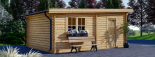 Holzgarage MODERN (44 mm) 4x6 m, 24 m² mit Flachdach visualization 6