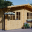 Gartenhaus LILLE (34 mm) 4x3 m, 12 m² visualization 1
