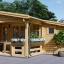 Blockbohlenhaus ISLA (44 mm) 26 m² visualization 1