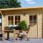 Gartenhaus DREUX (44 mm) 4x3 m, 12 m² mit Flachdach  visualization 1