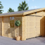 Doppelgarage aus Holz (44 mm) 6x6 m, 36 m² visualization 1