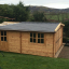 Holzgarage (44 mm) 4x6 m, 24 m² customer 1