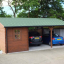 Carport aus Holz für 2 Autos mit Schuppen, 7.7x6 m customer 1