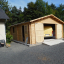 Holzgarage (44 mm) 6x6 m, 36 m² customer 1