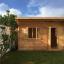 Gartenhaus DREUX (44 mm) 4x3 m, 12 m² mit Flachdach  customer 1