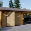 Holzgarage (44 mm) 4x6 m mit Doppelcarport aus Holz 5.5x6 m, 57 m² visualization 1