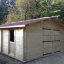 Holzgarage (44 mm) 6x6 m, 36 m² customer 3