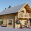 Blockbohlenhaus LANGON (44+44 mm) 108 m² mit extra Schneelast visualization 1