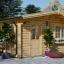 Gartenhaus NINA (44 mm) 6x6 m, 36 m² visualization 1